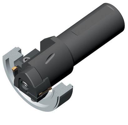 应用示例 4:端面开槽 - 复合刀具